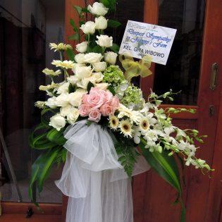 Gambar Karangan Bunga Standing Luna Florist