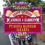 gambar bunga papan ucapan pernikahan di toko bunga karanganyar dan toko bunga solo KRA HW02