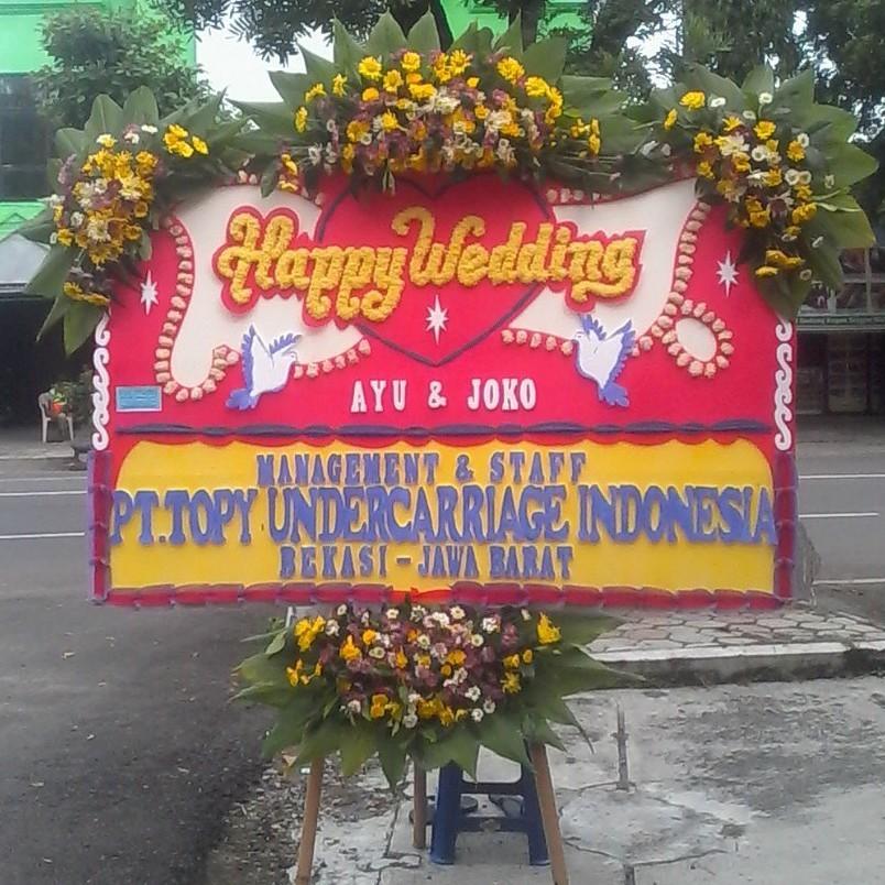gambar bunga papan ucapan pernikahan di toko bunga solo dan karanganyar hw01