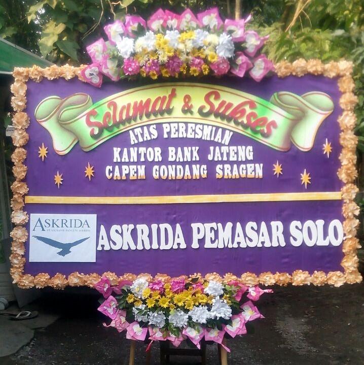 gambar bunga papan ucapan selamat di toko bunga dari pt askrida pemasar solo
