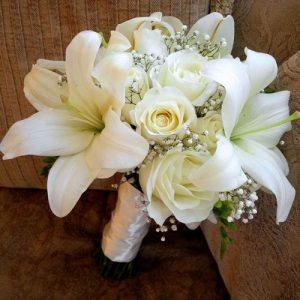 buket bunga lily bakung