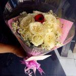 Buket Bunga Model Round Cluster di toko bunga bandung